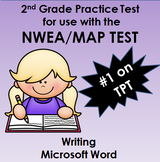 134 Question Practice Test for NWEA MAP Writing  2nd Grade or 166-202 RIT Range