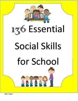 136 Essential Social Skills for School
