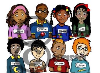 """120 Pc. BUNDLE: Initial """"I-P"""" Kindergarten Clip-Art! BW & Color"""