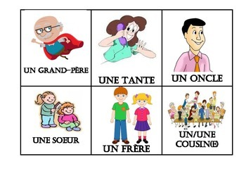 138 FRENCH VOCABULARY THEMED FLASHCARDS