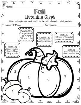 Fall Listening Glyphs