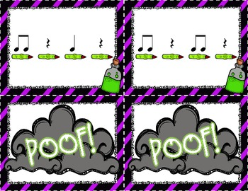 Poof! A Rhythm Game for Quarter Note, Rest & Eighth Notes