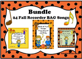 RECORDERS Bundle 24 Fall Recorder BAG Songs
