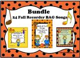 RECORDERS Bundle 24 Fall Recorder BAG Songs
