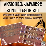 Akatonbo: Japanese song lesson set to teach pentatonic, 3/4, rounds