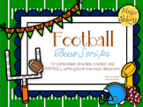 Music Football Beat Strips & Composition Cards for Rhythmic Notation