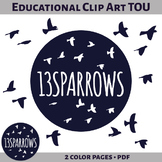 13sparrows Educational Clip Art Terms of Use