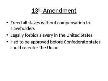 13th, 14th, and 15th Amendments