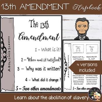 13th Amendment Flapbook