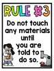 Science Safety Posters White