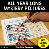 14 All Year Long Mystery Pictures - Color by Code
