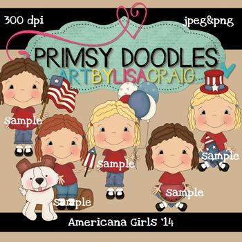 14-Americana Girls 300 dpi clipart