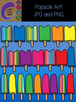 Popsicle Clip Art  Color Images