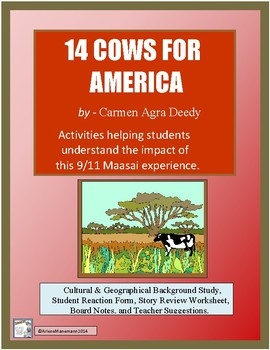 14 COWS FOR AMERICA: 9/11 Reading & Activities