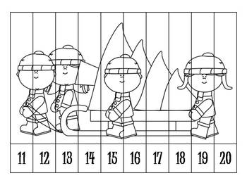 14 Christmas Number Order Puzzles B&W {FREEBIE}