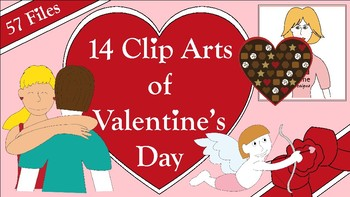 14 Clip Arts of Valentine's Day