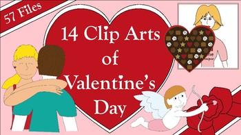 14 Clip Arts of Valentine's Day