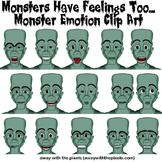 14 Color Monster Emotions / Feelings Clip Art
