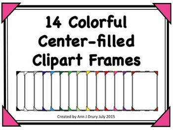 14 Colorful Center-Filled Clipart Frames