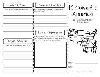14 Cows for America Reading Guide