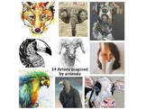 "14 Different  ""Animal"" Artists, lots of images and student"