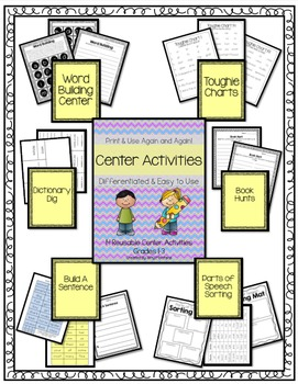 14 Differentiated, Reusable Center Activities