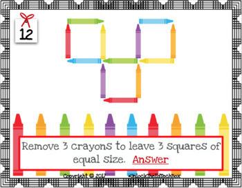 14 Digital Moveable Matchstick Crayon Puzzles STEM Google Slide PowerPoint
