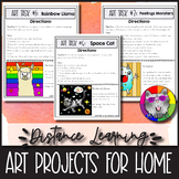 14 Distance Learning Art Projects for Art Lessons at Home