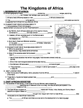 UNIT 3 LESSON 1. Early Kingdoms of Africa GUIDED NOTES