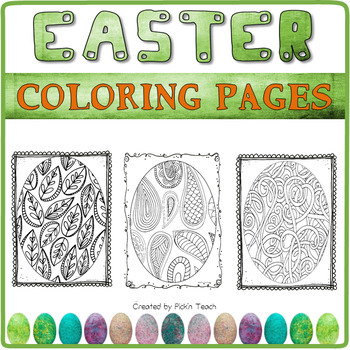 14 Easter eggs COLORING PAGES