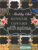 14 Editable Binder Covers (Shabby Chic)