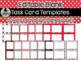 14 Editable Task Card Templates Lovely Ladybugs (Landscape) PowerPoint