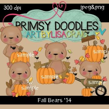 14-Fall Bears 300 dpi clipart