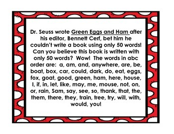14 Fantastic Facts About Dr. Seuss! - Freebie