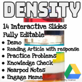 14 Fully Editable Density Digital Lessons