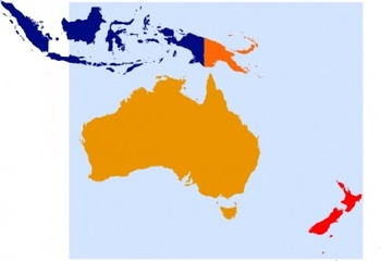14 Geography/Map Internet Assignments for Oceania Australia