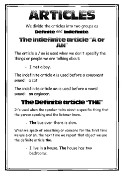 14 Grammar Posters