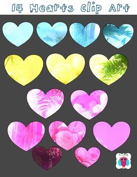 14 Heart Clip Art Set