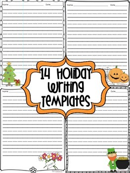 14 Holiday Writing Templates