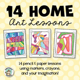 14 Home Art Lessons - Distance Learning Packet