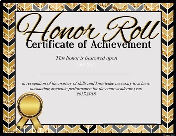 14 Honor Roll Achievement Awards --by Six Weeks - Sem -Full Year #luckydeals