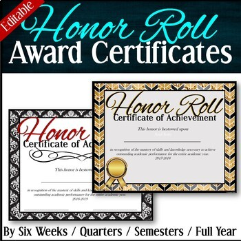 Honor Roll Awards Teaching Resources Teachers Pay Teachers