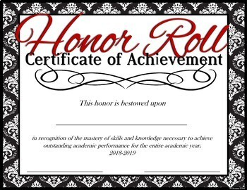 14 Honor Roll Achievement Awards --by Six Weeks -Quarters -Semesters -Full Year