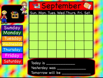 14 Interactive Flipchart Calendars for Promethean Board