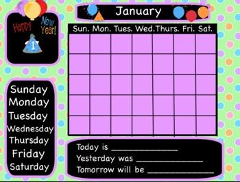 14 Interactive Flipchart Calendars for Promethean Board