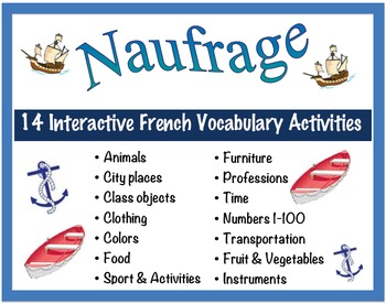 14 Interactive French Vocabulary Activities for Pairs or S