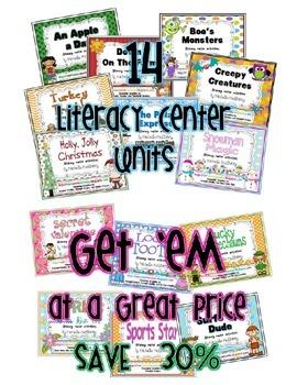 14 Literacy Center Units {BUNDLE}