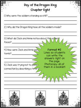 #14 Magic Tree House- Day of the Dragon King Questions