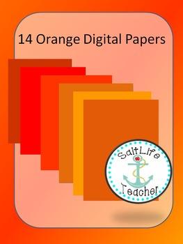 14 Orange Digital Papers