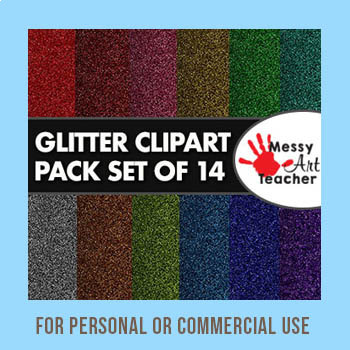 "14 Pack of Glitter Clipart Background 8.5""x8.5"""
